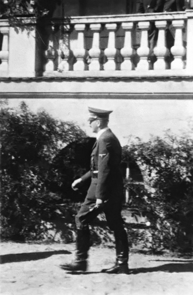 Adolf Hitler in front of Annappes's castle, France, where he spent the night between 1st and 2nd of June 1940