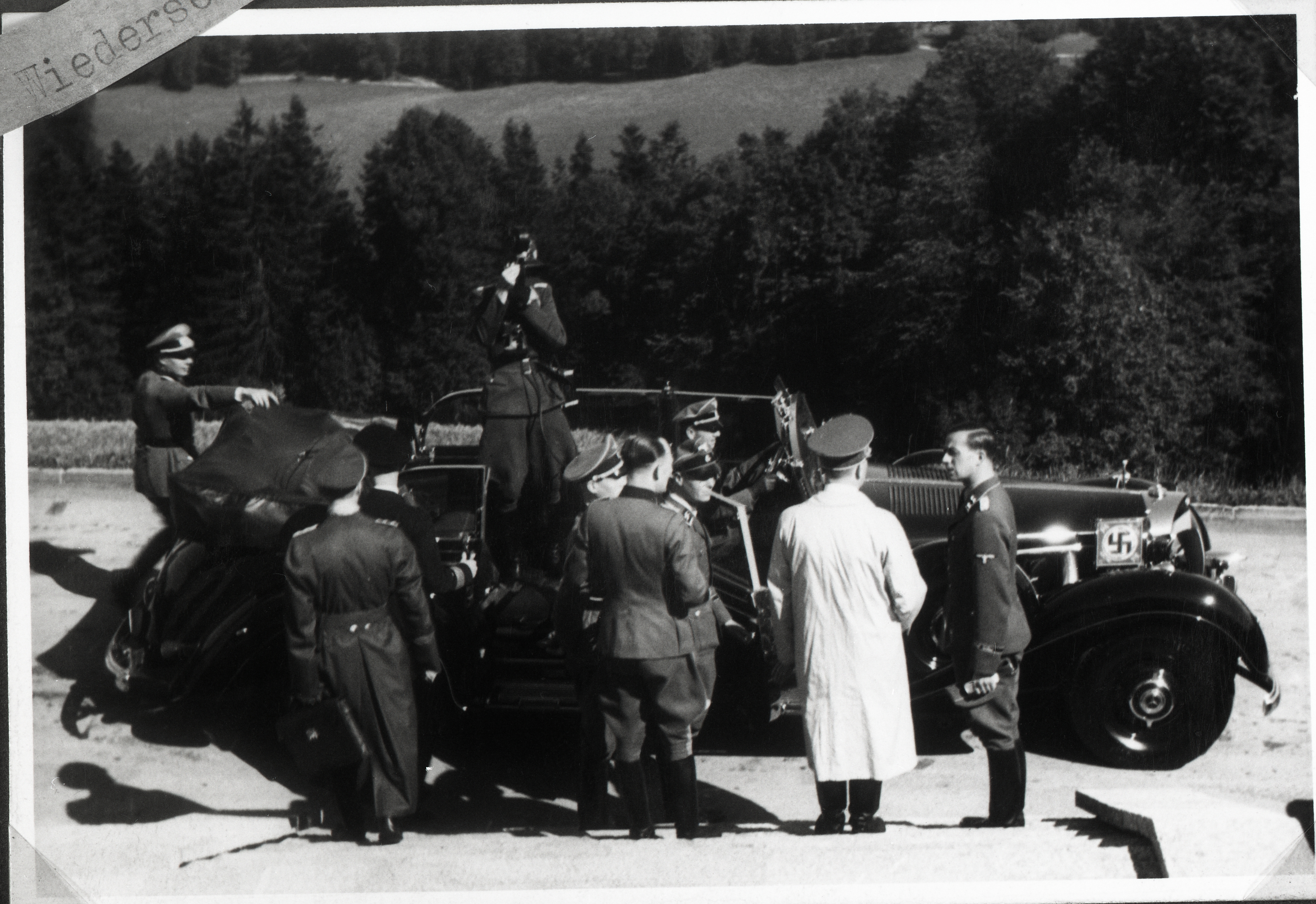 Adolf Hitler before his departure to Berlin, from Eva Braun's albums