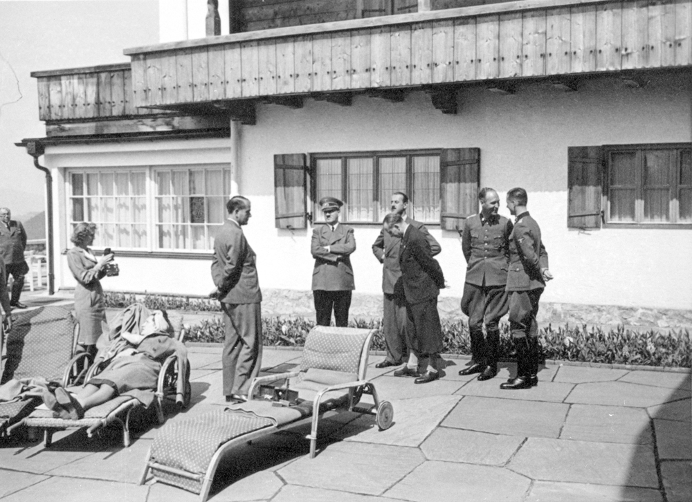 Adolf Hitler on the Berghof terrace in the summer of 1940, from Eva Braun's albums