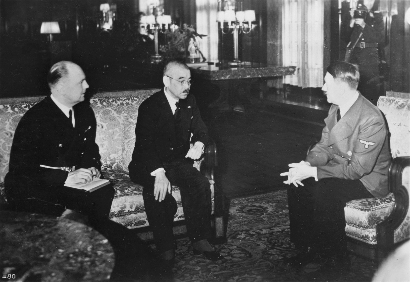 Adolf Hitler in conversation with Japanese foreign minister Yōsuke Matsuoka