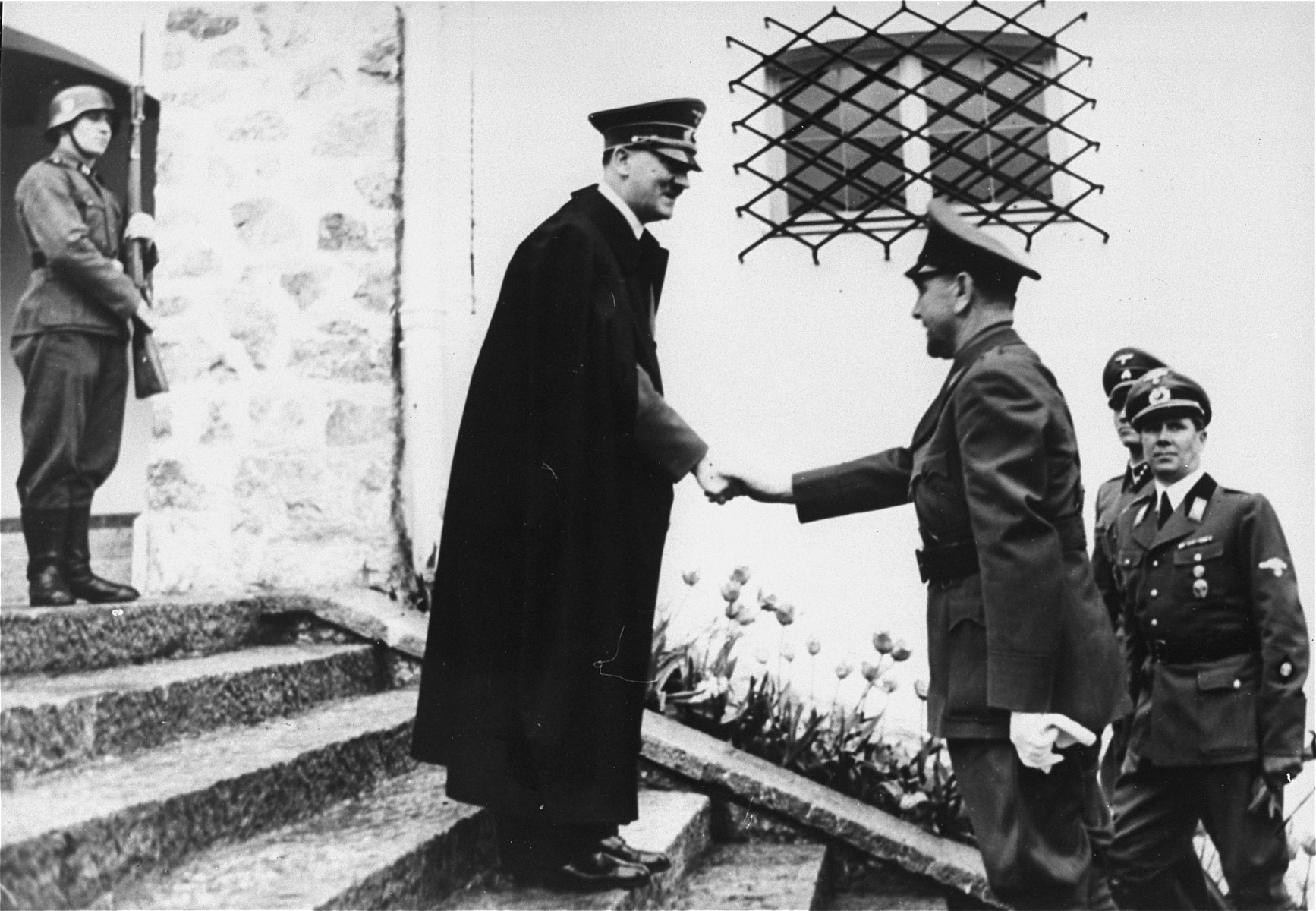 Adolf Hitler greeting the croatian head of state Dr. Ante Pavelic