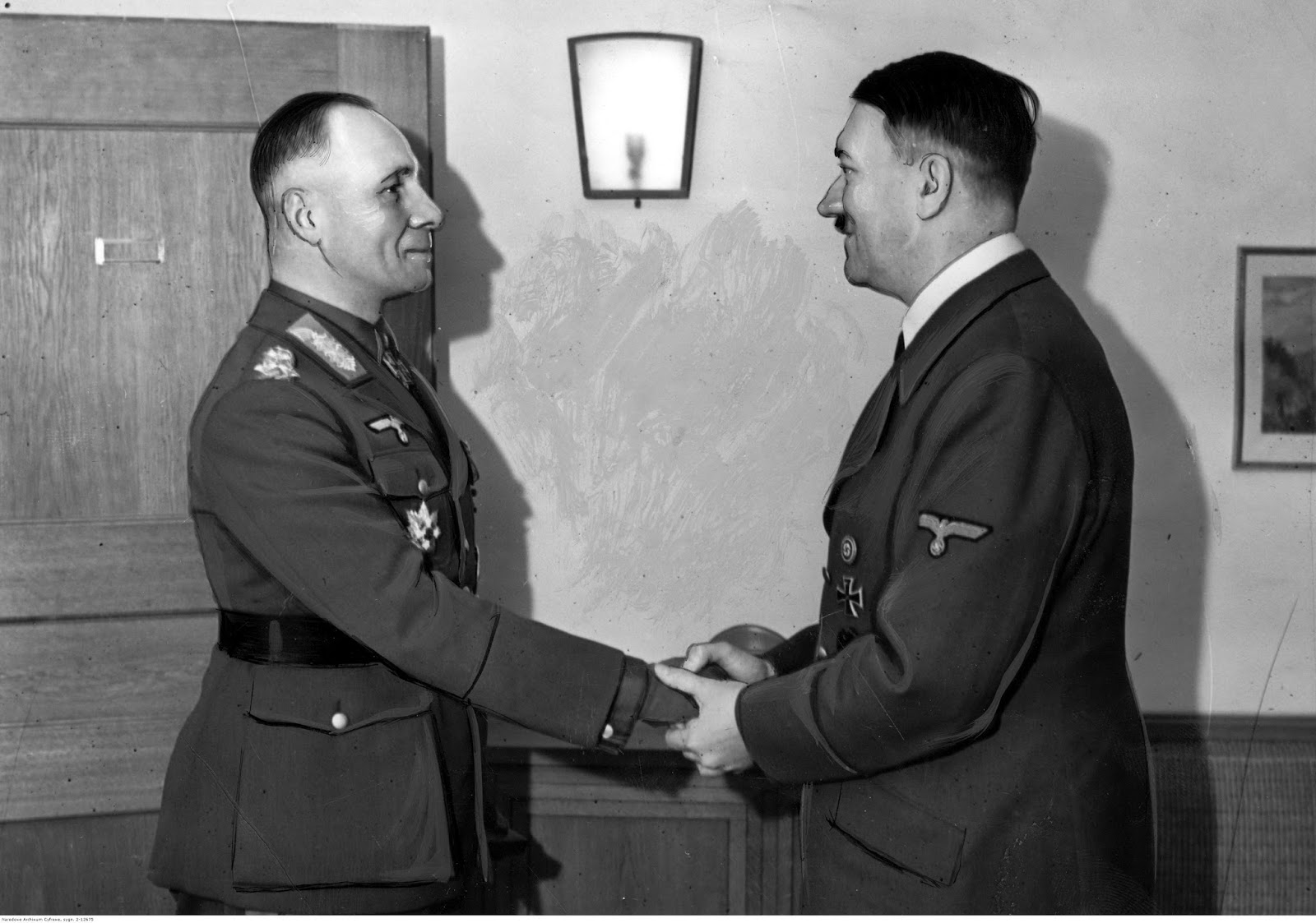 Erwin Rommel receives the Leaves of Oak with Swords to the Cross of the Iron Cross