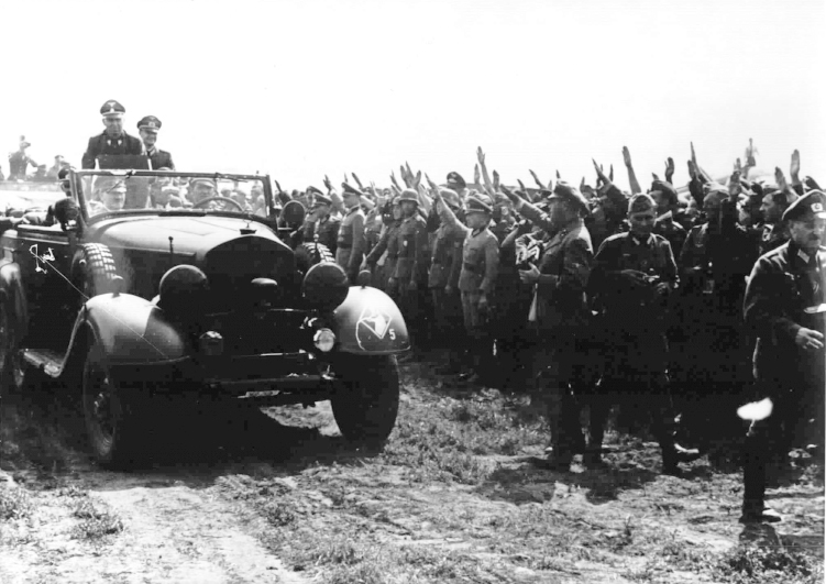 Adolf Hitler on the east front in Ukraine