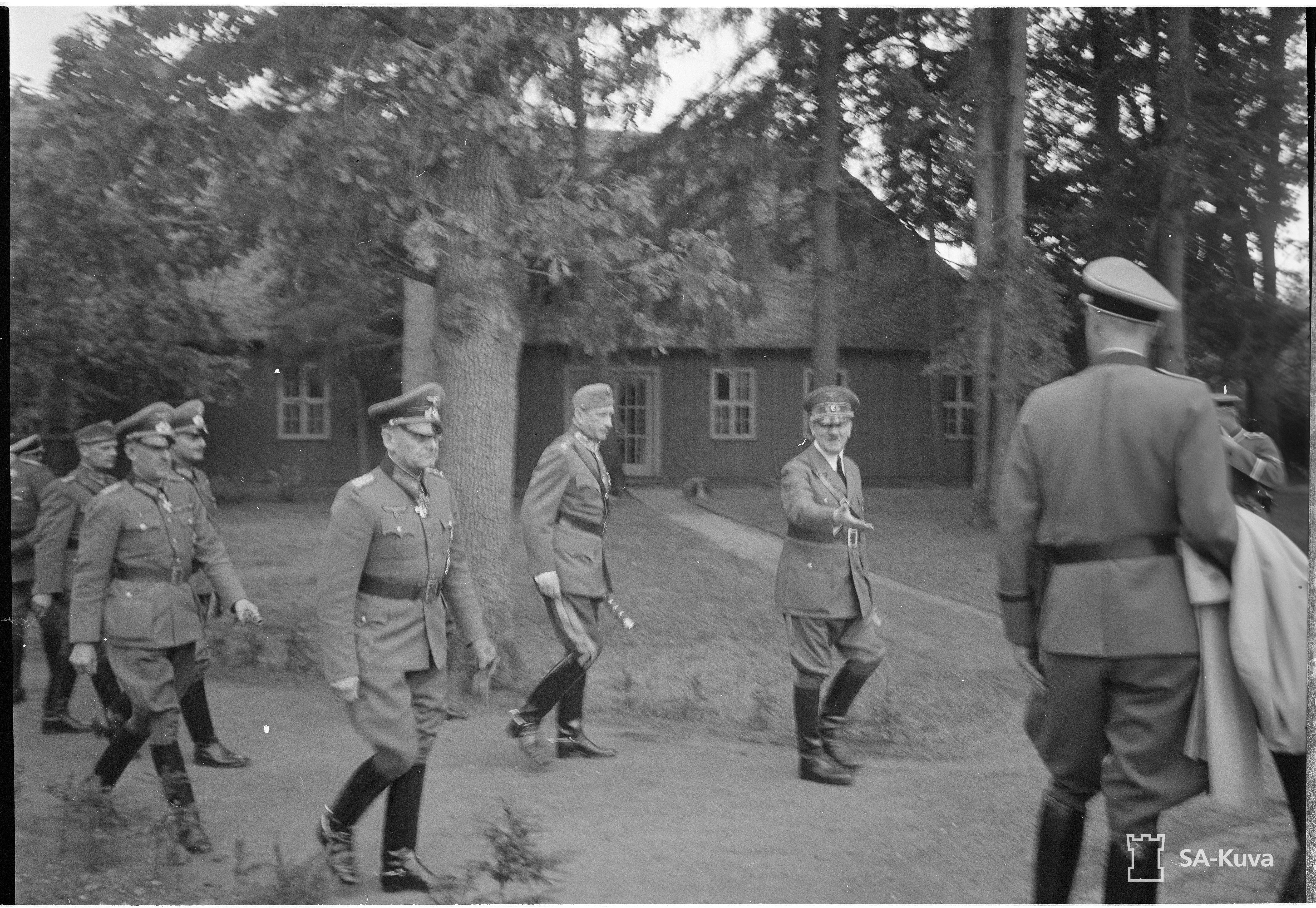 Adolf Hitler and Gustav Mannerheim at the Wolfsschanze