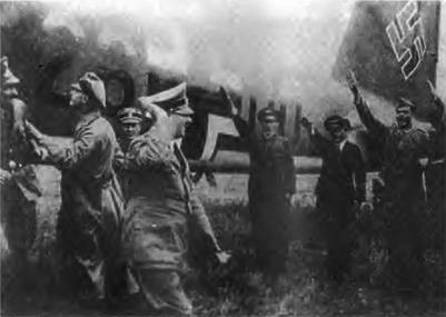 Adolf Hitler arrives in Führerhautquartier Werwolf, his newly built headquarters in Ukraine, to follow the front in Russia