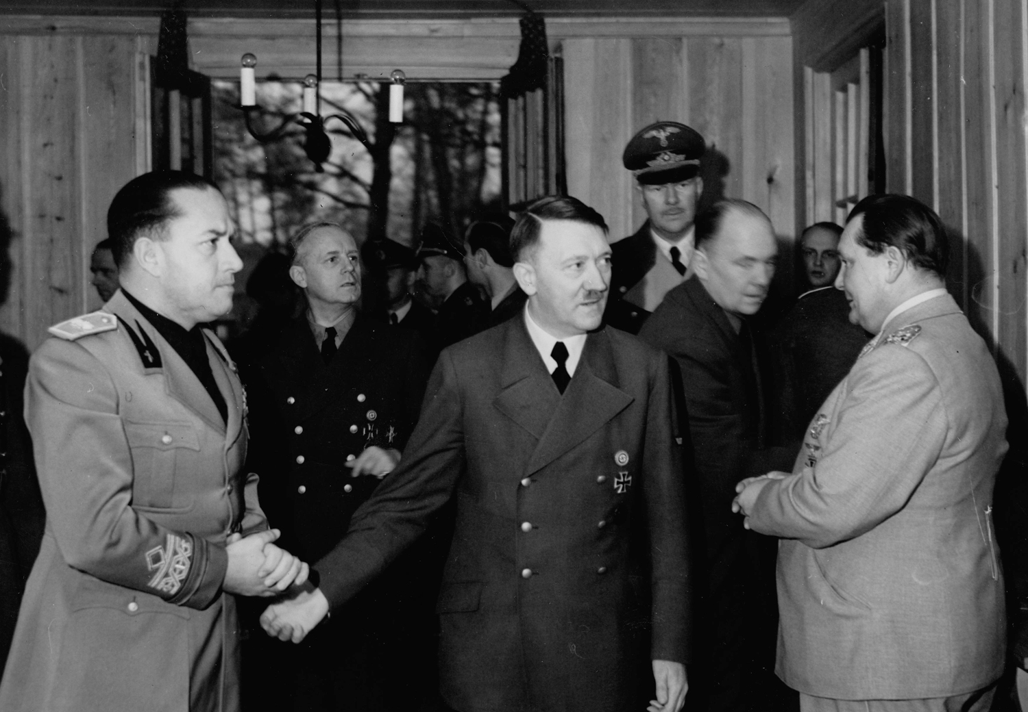 Adolf Hitler meets Italian foreign affairs minister Galeazzo Ciano at the Wolfsschanze