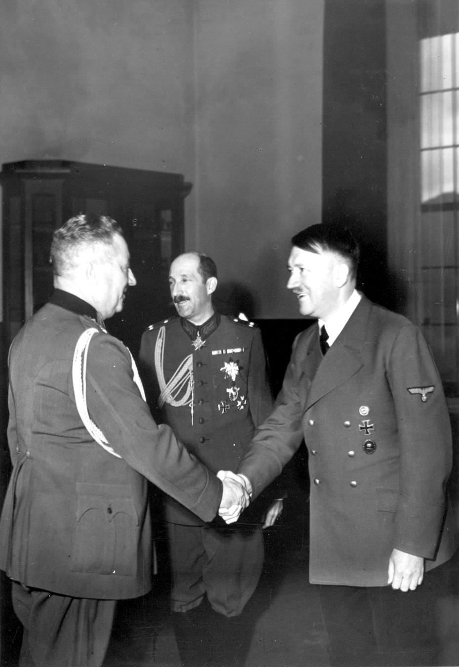 Adolf Hitler with Zar Boris III in the Berghof, from Eva Braun's albums