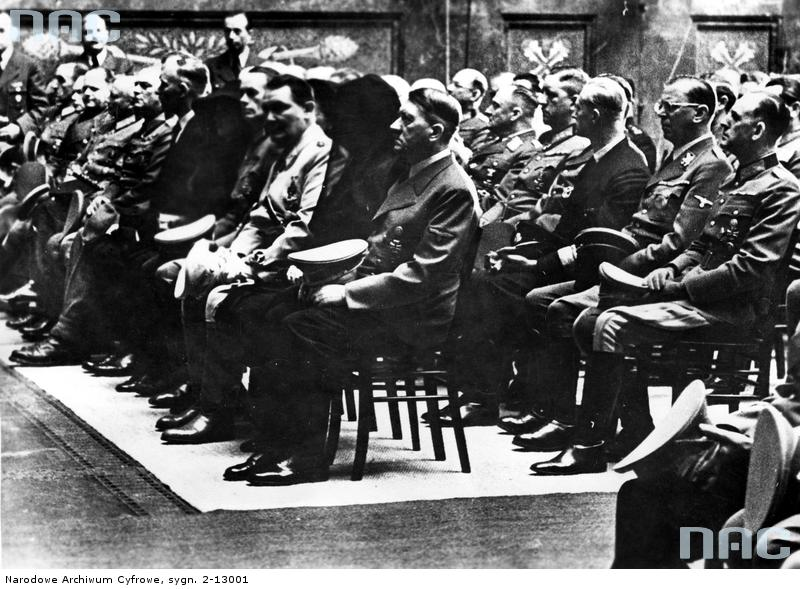 Adolf Hitler at the state funeral of general Hans-Valentin Hube in Berlin