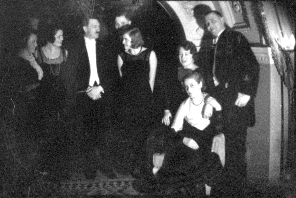 Adolf Hitler and Eva Braun during New year's Eve 1931/32, from Eva Braun's albums