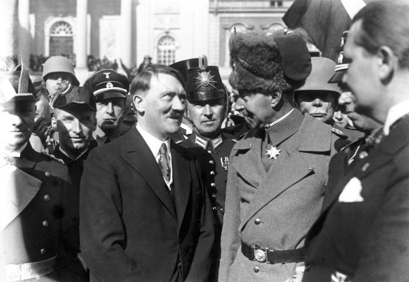 Adolf Hitler and the German Crown Prince Wilhelm on Potsdam Day