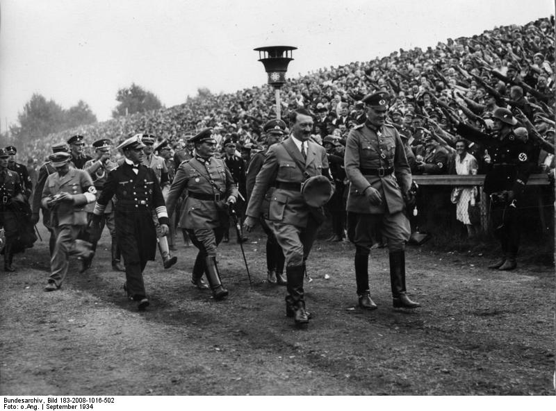Hitler at the Reichsparteitag in Nürnberg for the Tag der Wehrmacht