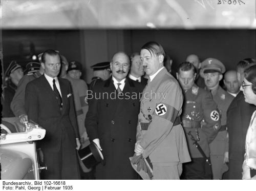 Adolf Hitler at the 1935 Berlin motor show