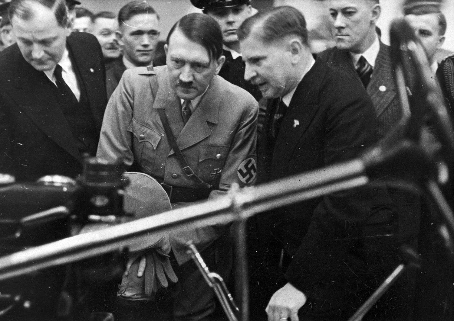 Adolf Hitler at the automobile show