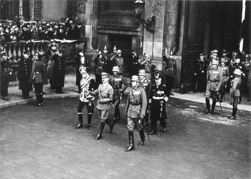 Adolf Hitler and his military commanders on Heldengedenktag in Berlin