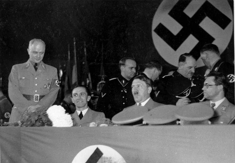 Adolf Hitler at the 10th anniversary of the foundation of the Gaues Gross-Berlin in the Sportpalast Hall in Berlin