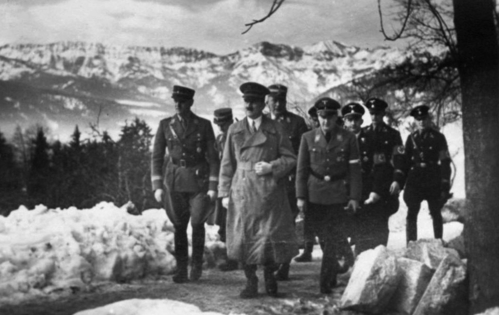 Adolf Hitler meets leaders of the Hitlerjugend and of the SA at the hotel Platterhof on the Obersalzberg