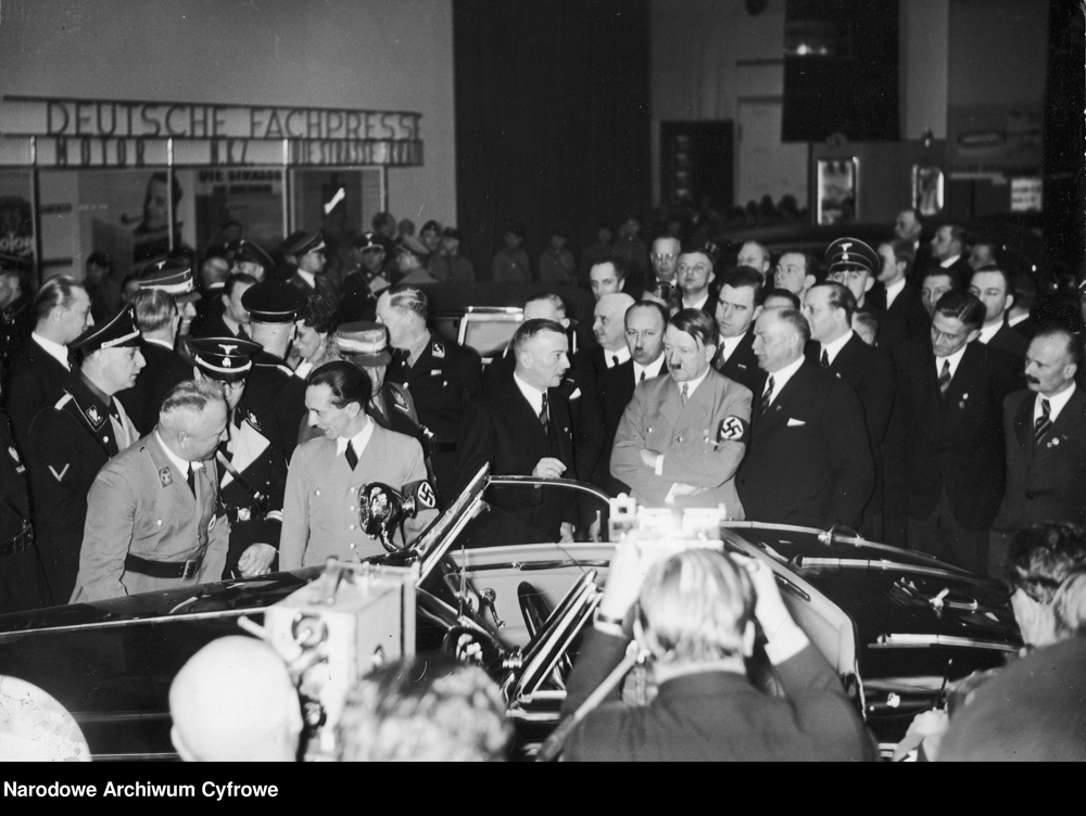 Adolf Hitler with Director Kissel at the opening of the International Motor Show