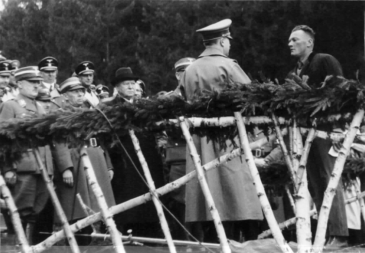 Hitler at the inauguration of the Salzburg-Wien Autobahn