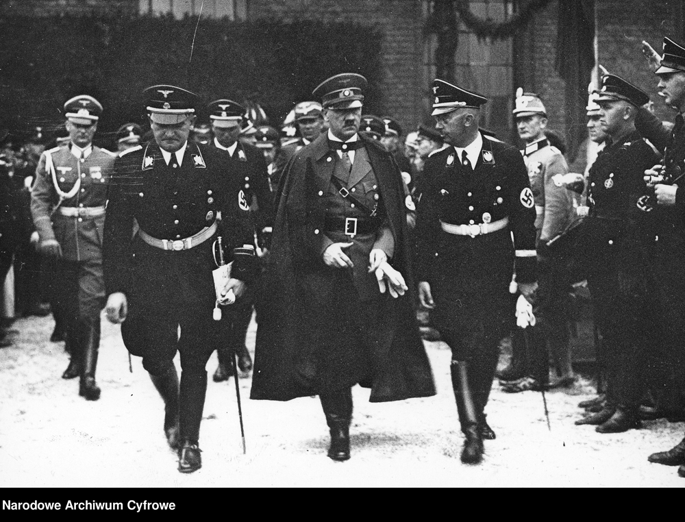 Adolf Hitler and Heinrich Himmler at the funeral of industrialist Emil Kirdorf