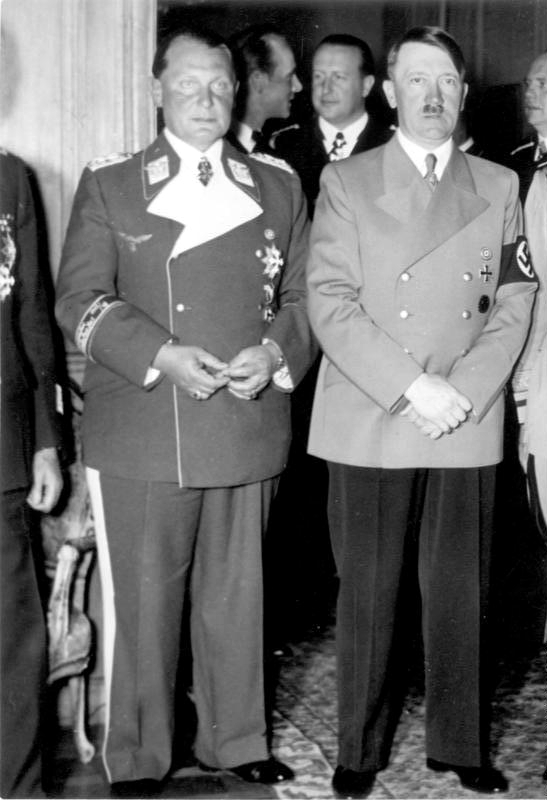 Adolf Hitler with Hermann Göring for his birthday