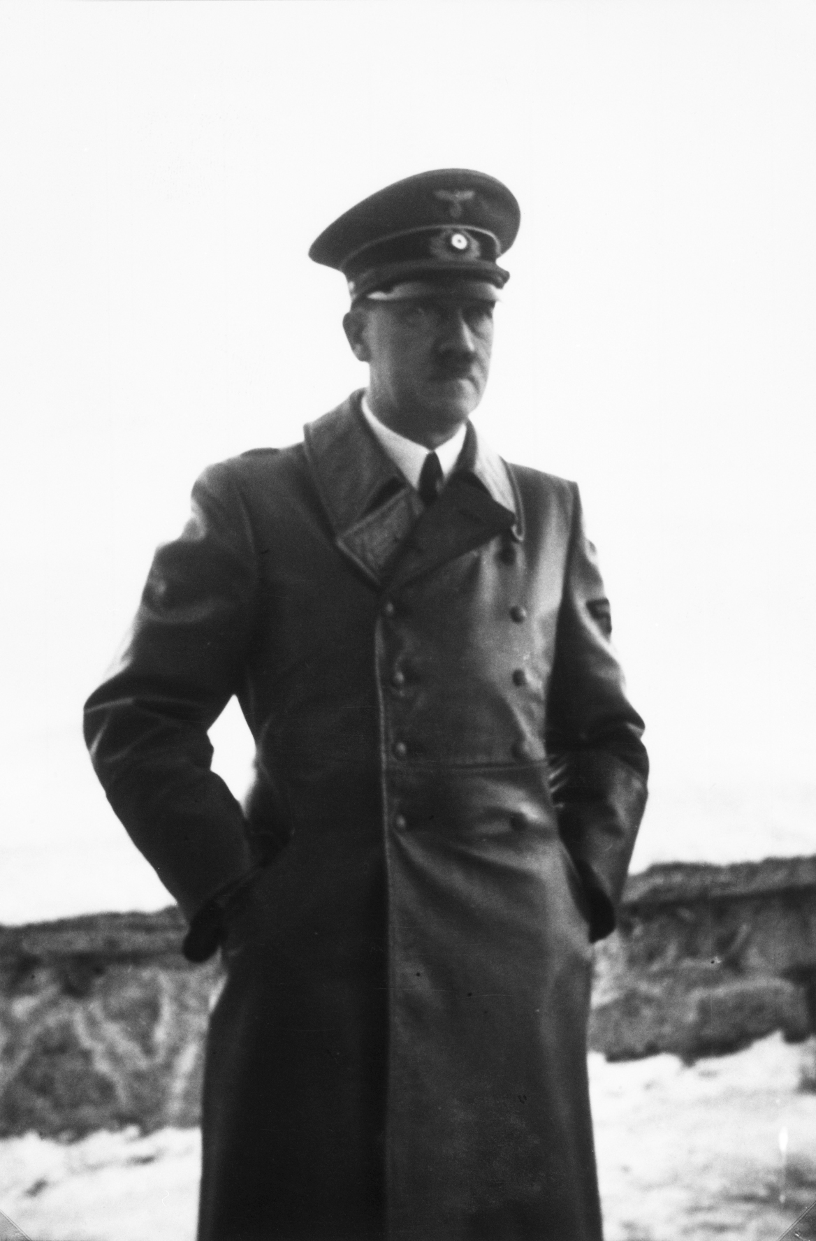 Adolf Hitler on the Berghof terrace early January 1940, from Eva Braun's albums