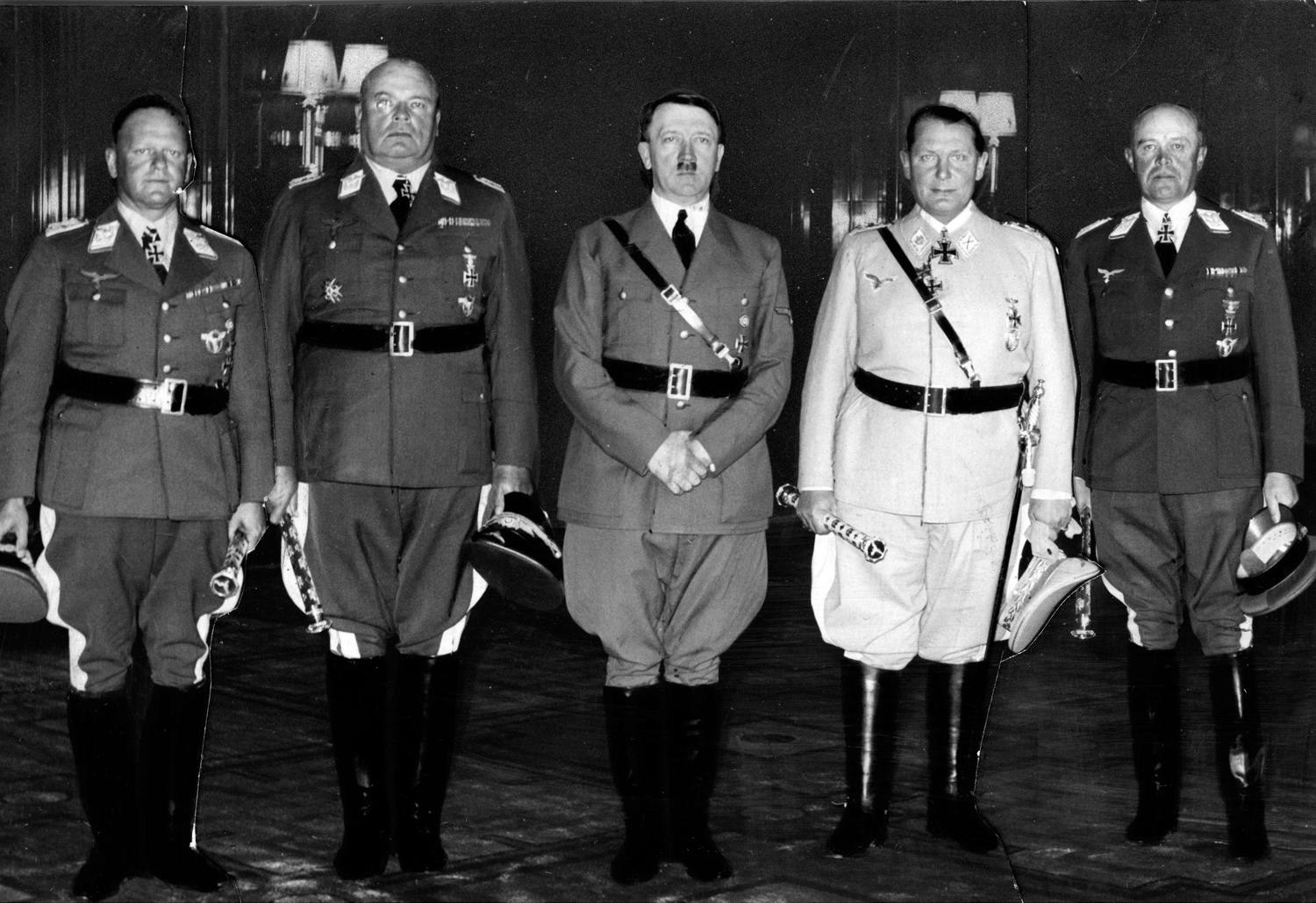 Adolf Hitler posing with the newly appointed field marshalls
