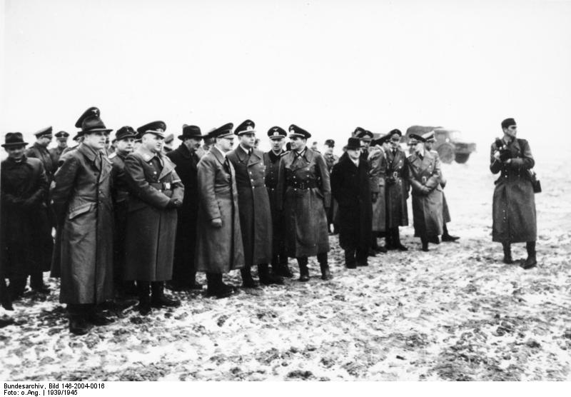 Adolf Hitler inspects the fortifications in Cap Gris-Nez, France