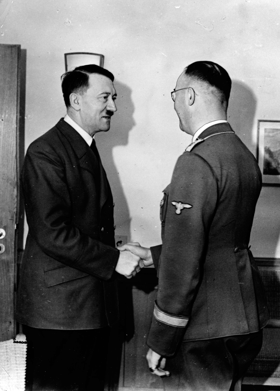 Adolf Hitler congratulates Heinrich Himmler for his 41th birthday