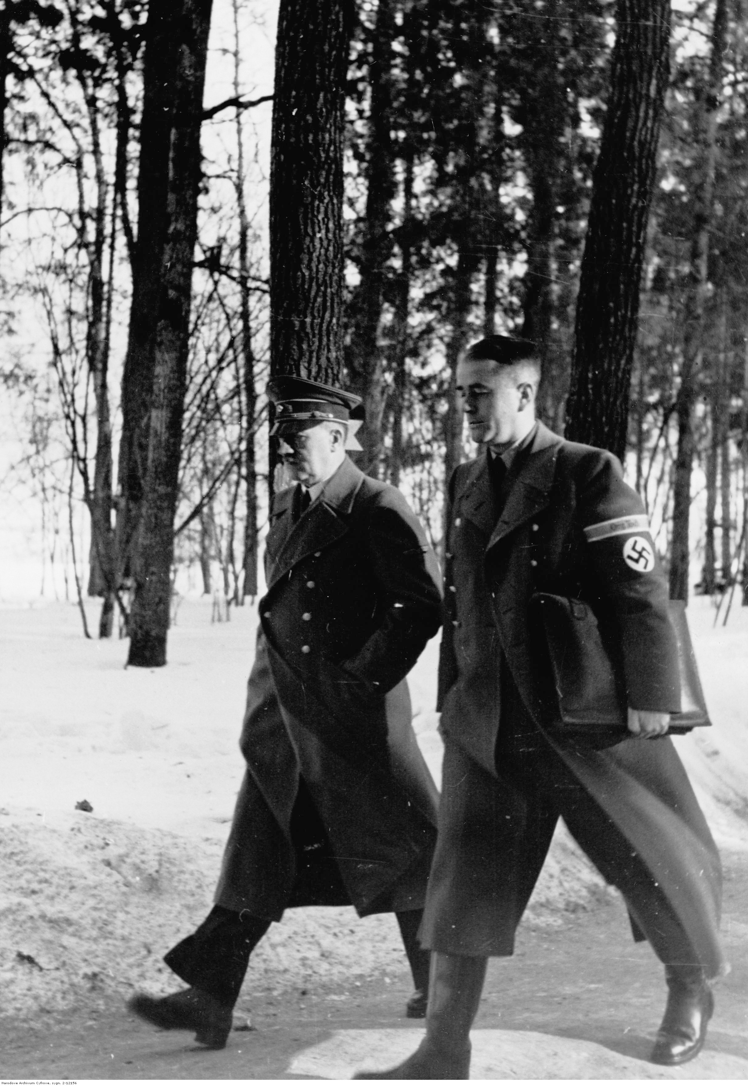 Adolf Hitler and Albert Speer before the situation conference in FHQ Wolfsschanze