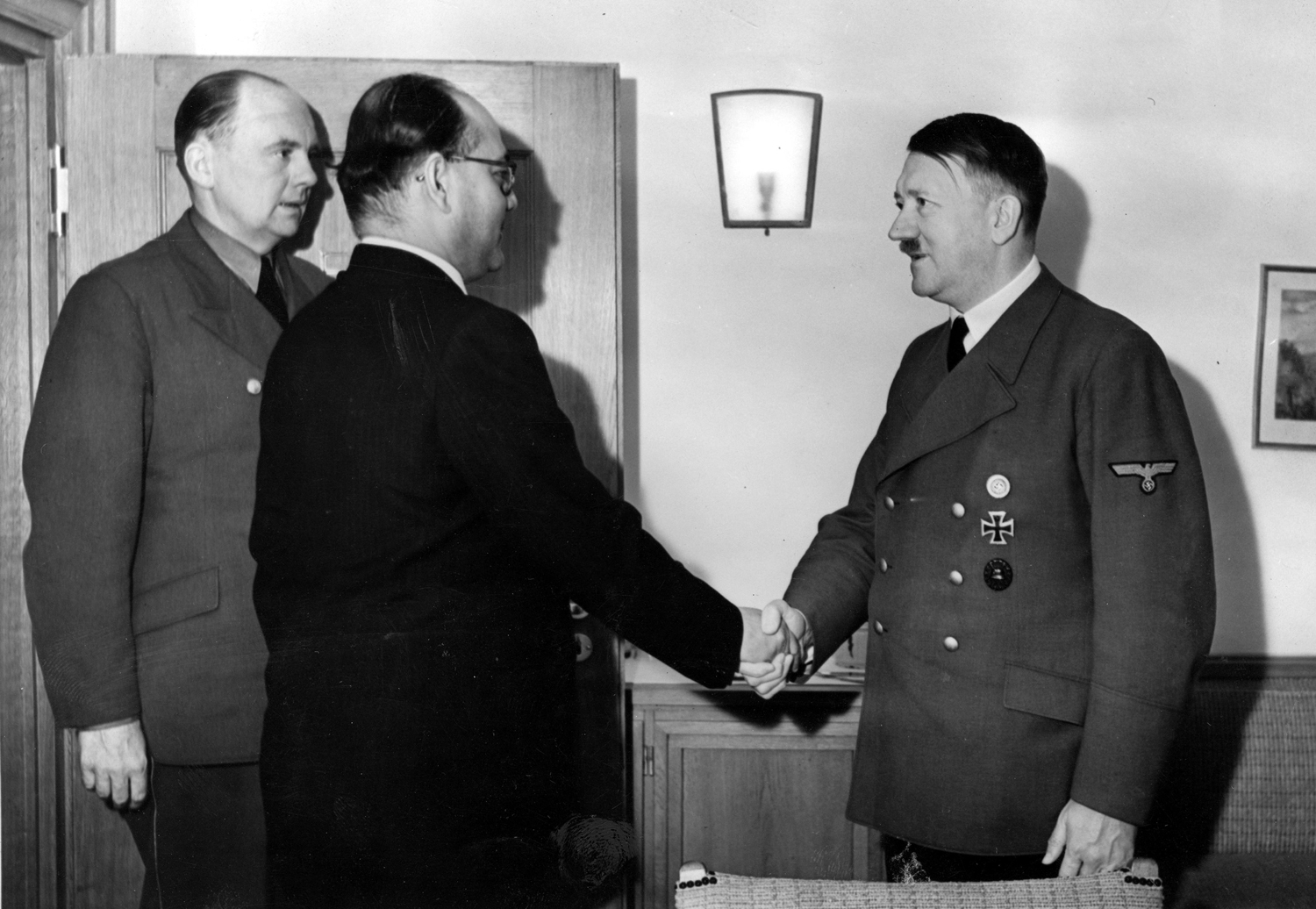 Adolf Hitler meets the Indian nationalist leader Subhas Chandra Bose