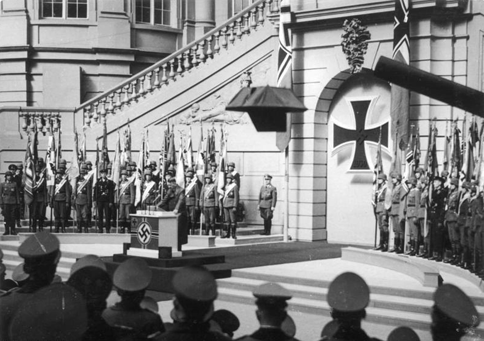 Adolf Hitler makes a speech to commemorate the heroes for the 1943 Heldengedenktag