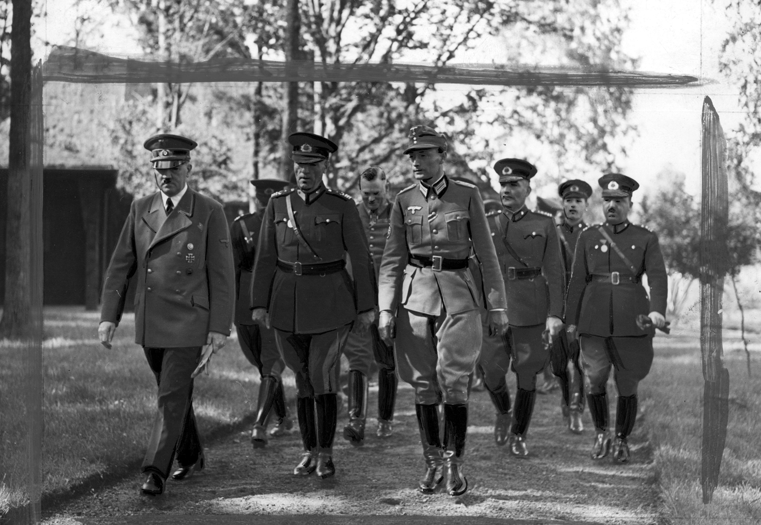 Adolf Hitler receives Turkish officers under the command of Colonel-General Toydemir at the Wolfsschanze